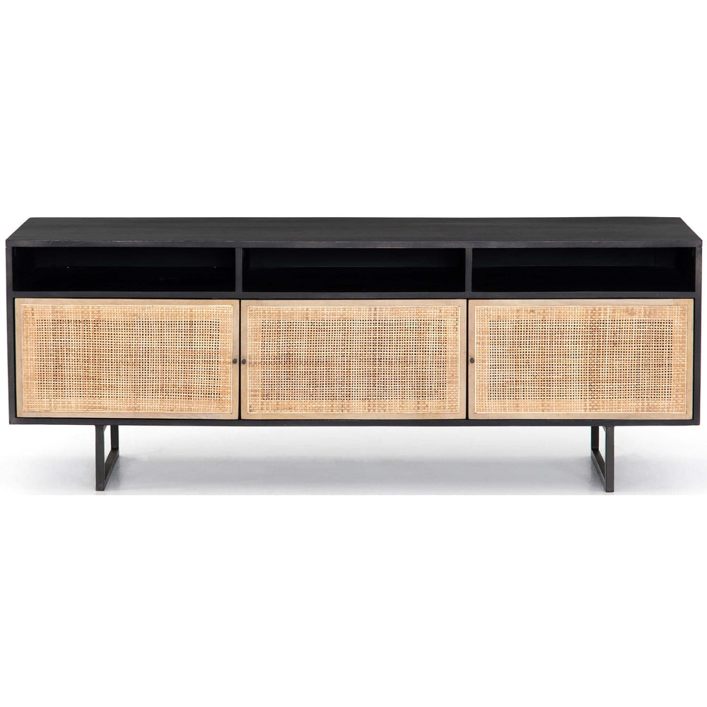 Carmel Media Console, Black - Furniture - Accent Tables - Console Tables