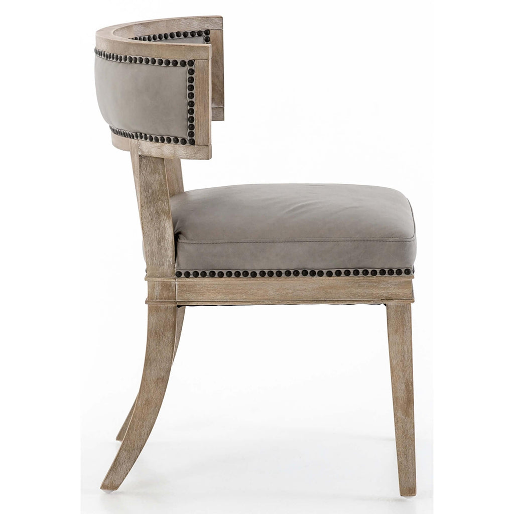 Amazing Carter Leather Dining Chair Light Grey Short Links Chair Design For Home Short Linksinfo