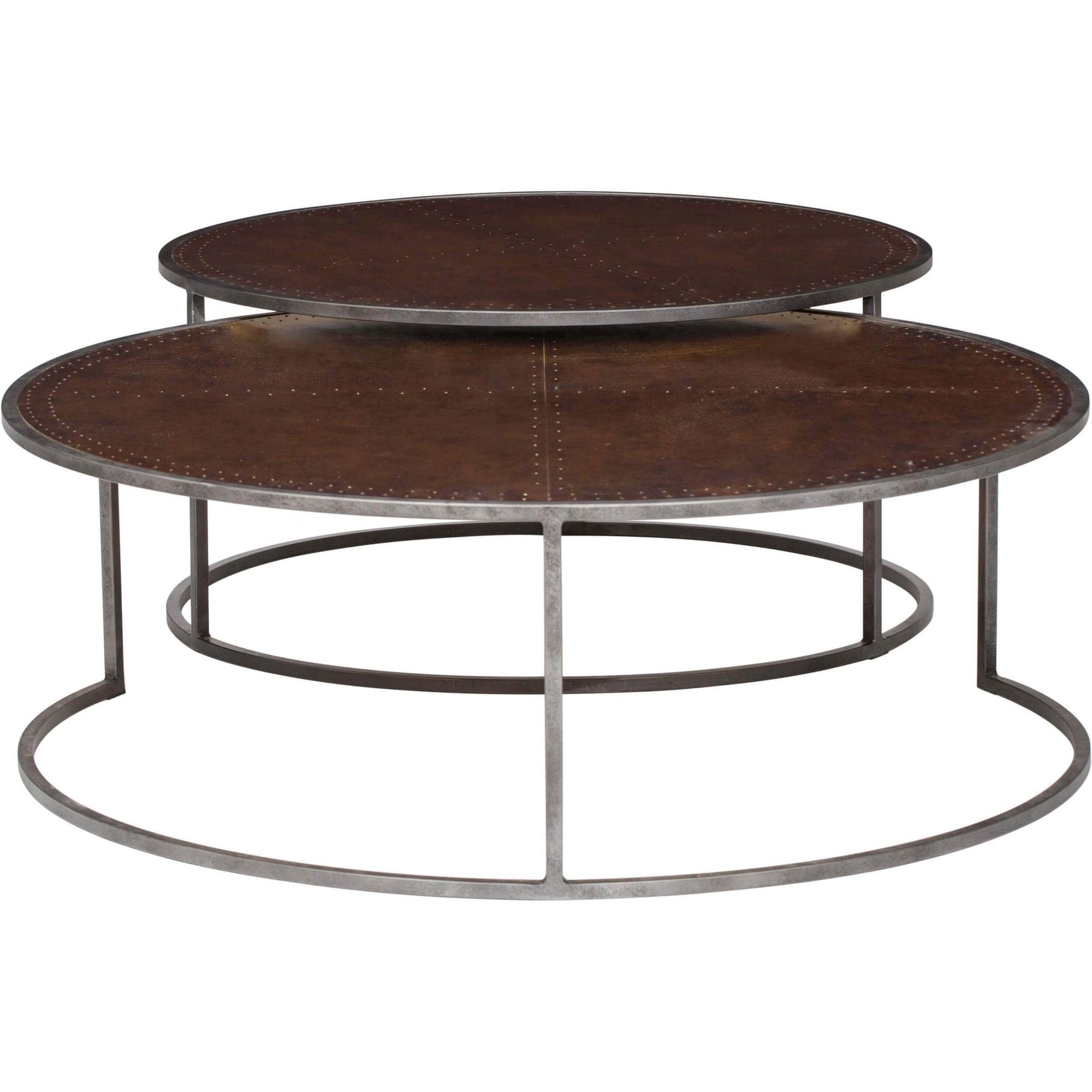 Catalina nesting coffee table antique copper high - How high should a coffee table be ...
