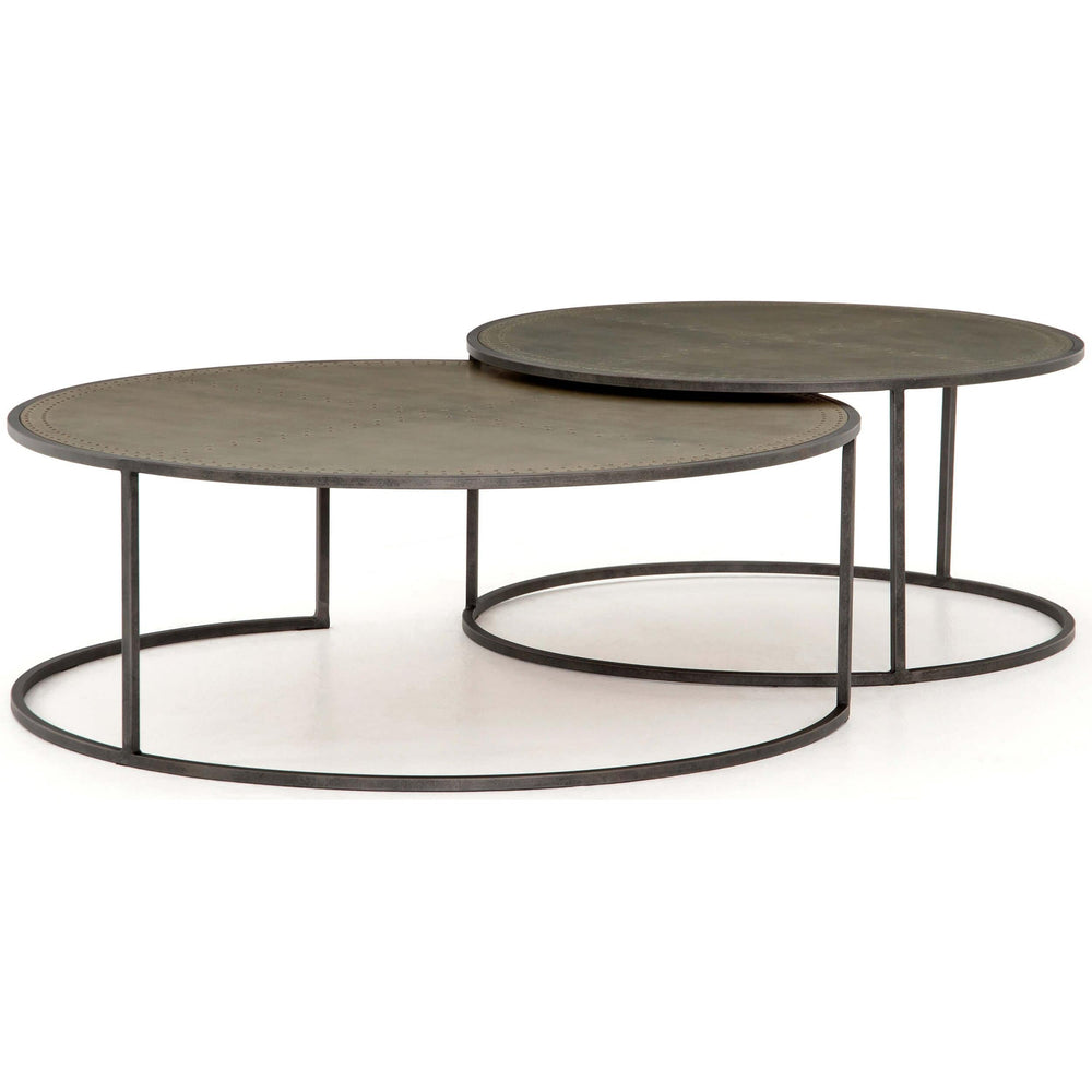 Catalina Nesting Coffee Table, Galvanized