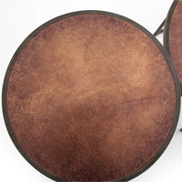 Catalina Nesting Side Tables, Antique Copper - Furniture - Accent Tables - High Fashion Home