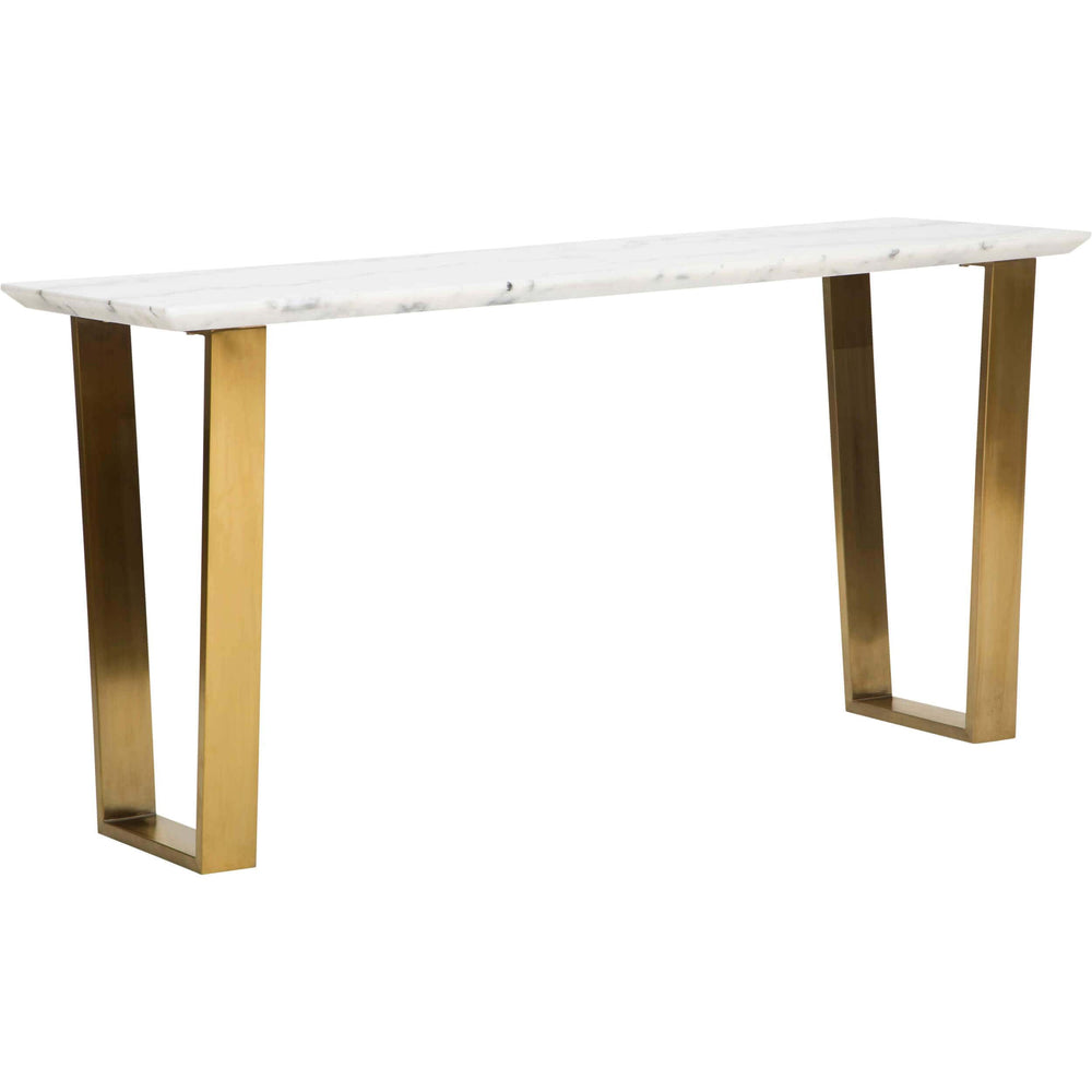 Catrine Console, White Marble/Gold Base - Furniture - Accent Tables - High Fashion Home