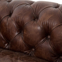 "Conrad 96"" Leather Sofa, Vintage Cigar -"