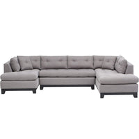 Chandler Sectional, Durango Slate - Modern Furniture - Sectionals - High Fashion Home
