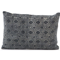 Charcoal Diamond Print Bolster - Accessories - High Fashion Home