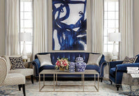 Indigo Bloom Framed - Accessories Artwork - High Fashion Home