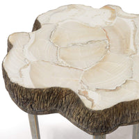 Chloe Fossilized Clam Side Table - Furniture - Accent Tables - High Fashion Home