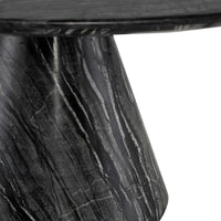 Claudio Coffee Table, Black Wood Vein Marble