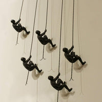 Climbing Man, Wall Mounted, Bronze - Accessories - High Fashion Home
