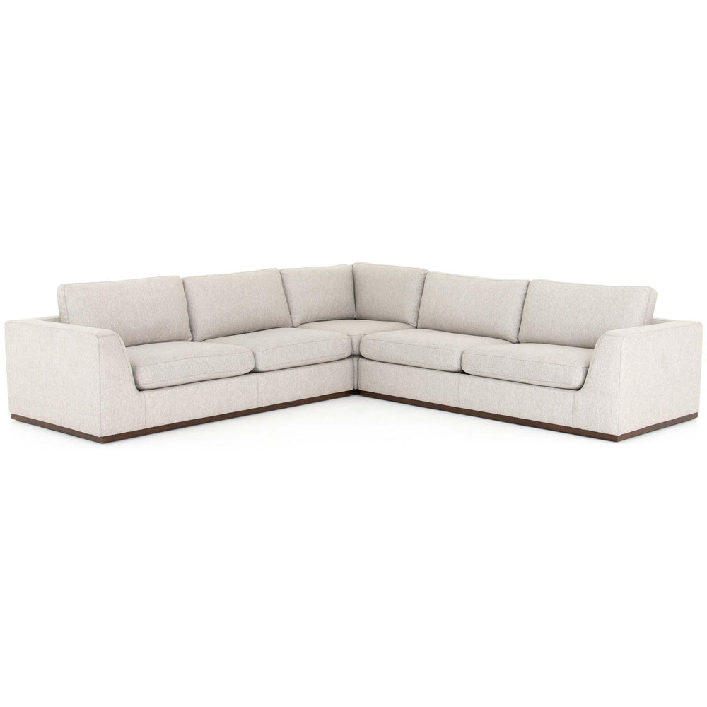 Colt 3 Piece Sectional, Aldred Silver - Modern Furniture - Sectionals - High Fashion Home