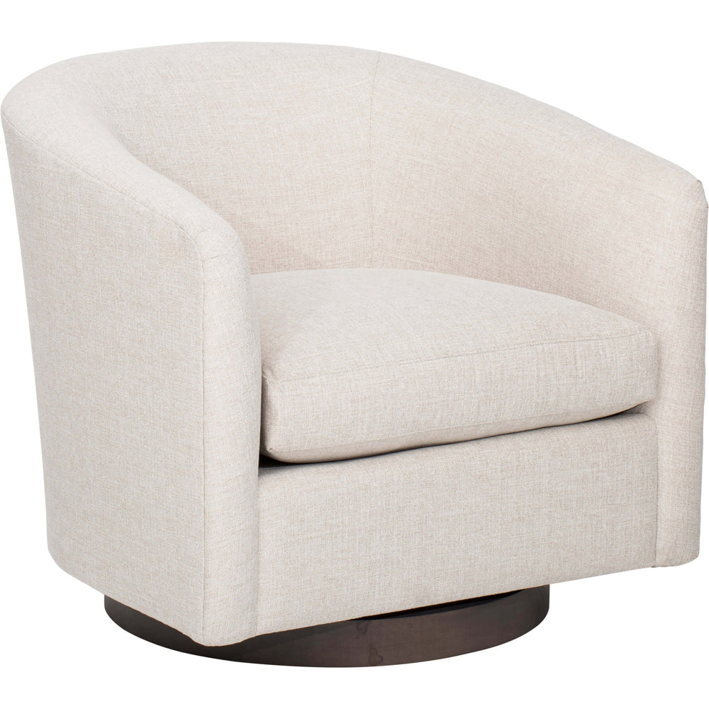 Coltrane Swivel Chair, Cody Alabaster  - Furniture - Chairs - Fabric