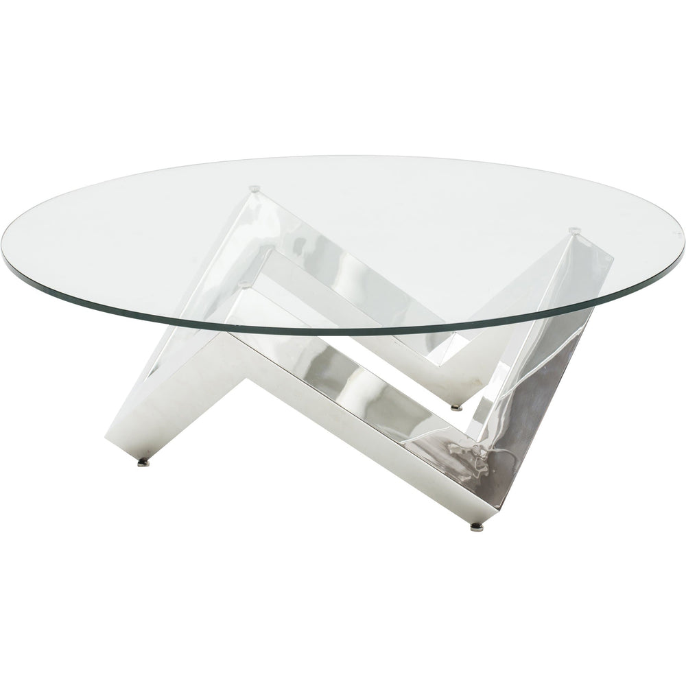 Como Coffee Table, Silver - Furniture - Accent Tables - Coffee Tables