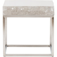 Concrete and Chrome End Table - Furniture - Accent Tables - End Tables