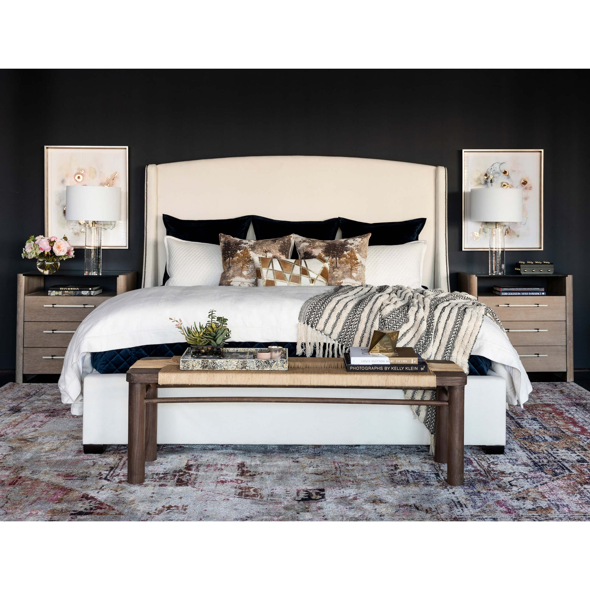 Groovy Cooper Tall Wing Bed High Fashion Home Camellatalisay Diy Chair Ideas Camellatalisaycom