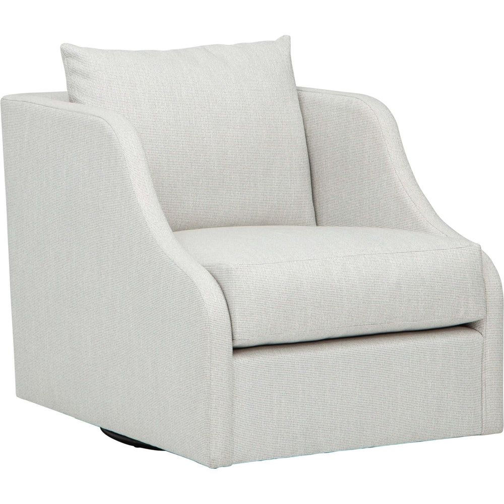 Cora Swivel Chair, Callaloo Cotton