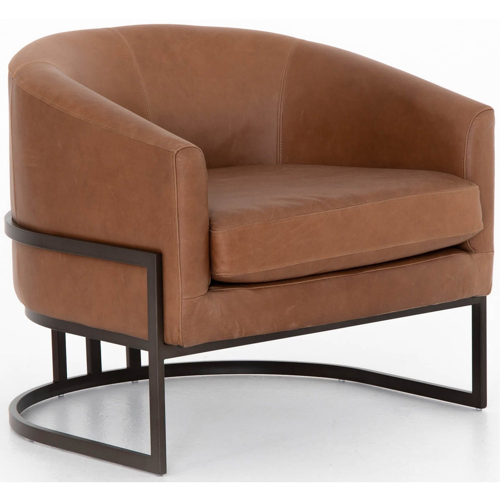 Corbin Leather Chair, Chaps Sand - Modern Furniture - Accent Chairs - High Fashion Home