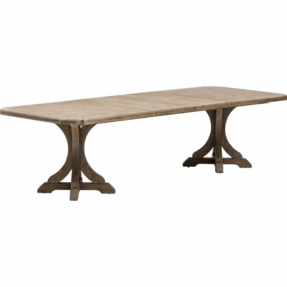 Corsica Rectangle Pedestal Dining Table - Modern Furniture - Dining Table - High Fashion Home