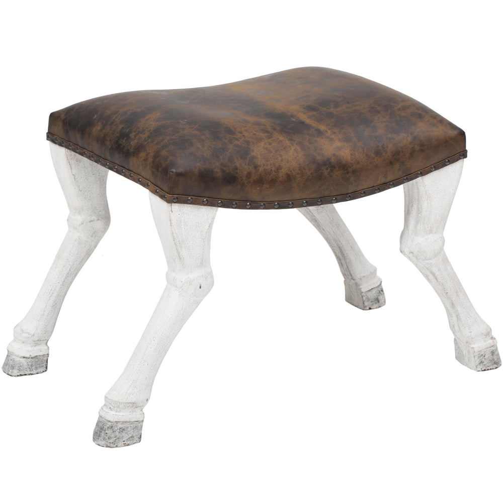 Claw Leg Saddle Stool - Furniture - Chairs - Ottomans