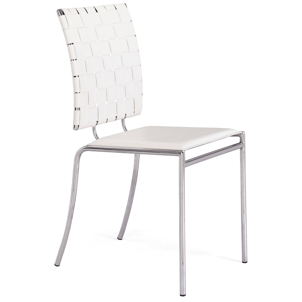Criss Cross Dining Chair, White (Set of 4) - Furniture - Dining - Chairs & Benches