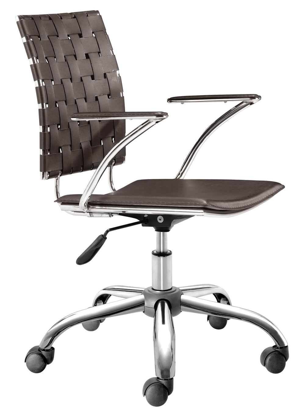 Criss Cross Office Chair Espresso - Furniture - Office - Chairs