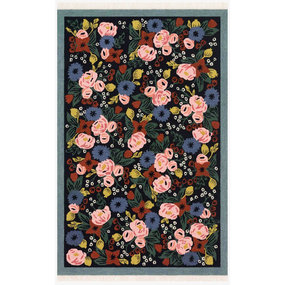 Loloi Rug Colette CTE-01, Rosa Black - Rugs1 - High Fashion Home