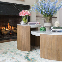 Curata Marble Cocktail Table  - Furniture - Accent Tables - Coffee Tables