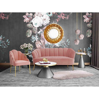 Ella Petite Settee, Rose - Furniture - Sofas - High Fashion Home