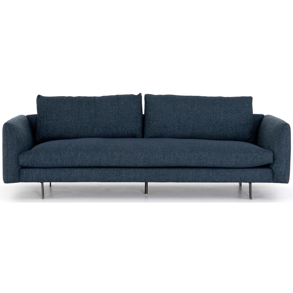 Dara Sofa, Gabardine Indigo - Modern Furniture - Sofas - High Fashion Home