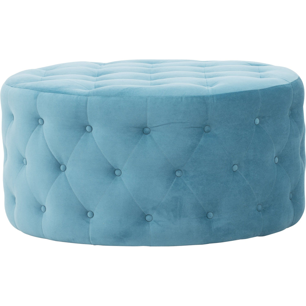 Darcy Ottoman, Lydia Teal - Furniture - Accent Tables - High Fashion Home