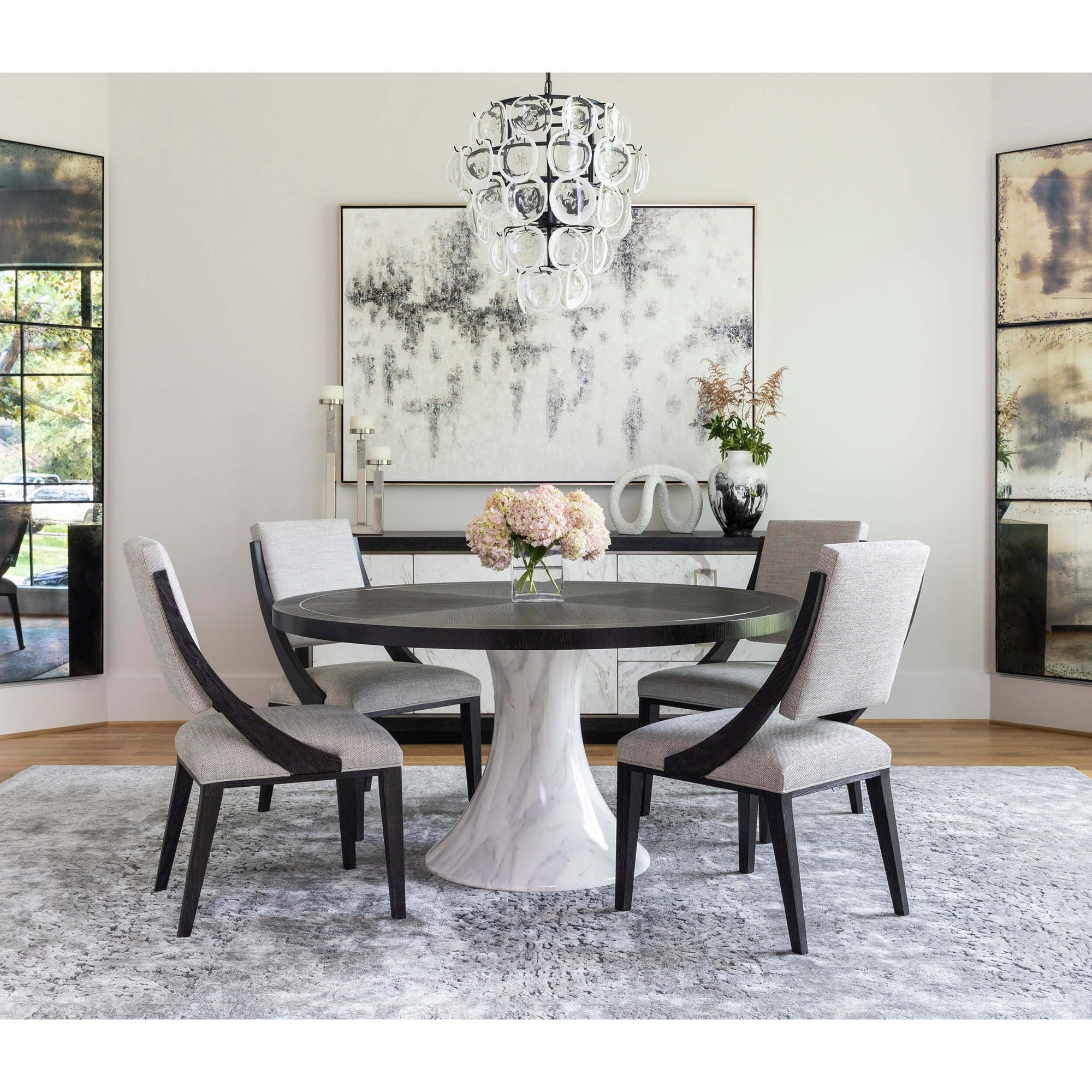 High Round Dining Table: Decorage Round Dining Table