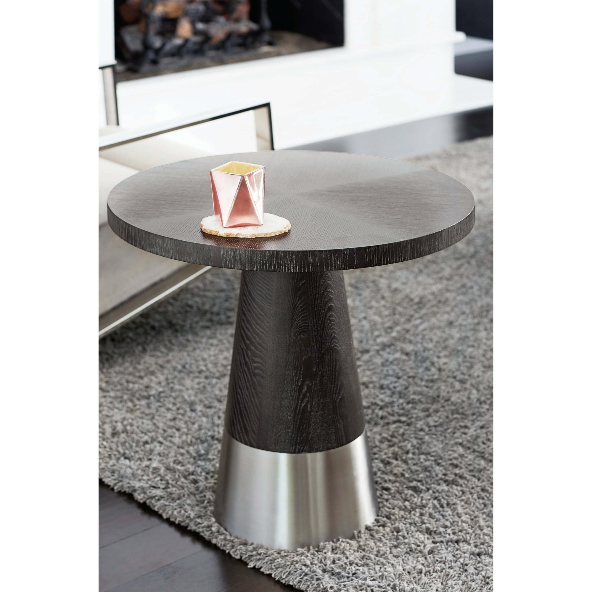 Decorage Round End Table High Fashion Home