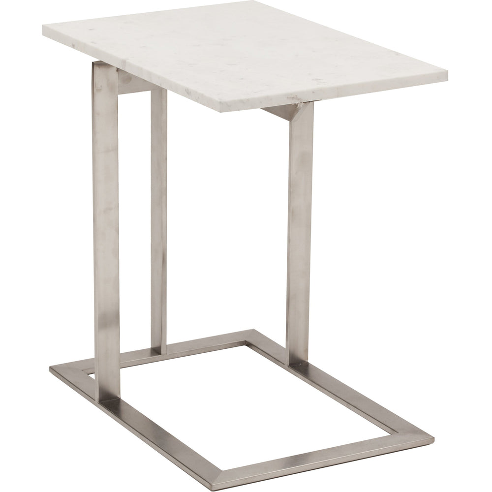 Dell Marble Side Table, White - Furniture - Accent Tables - End Tables