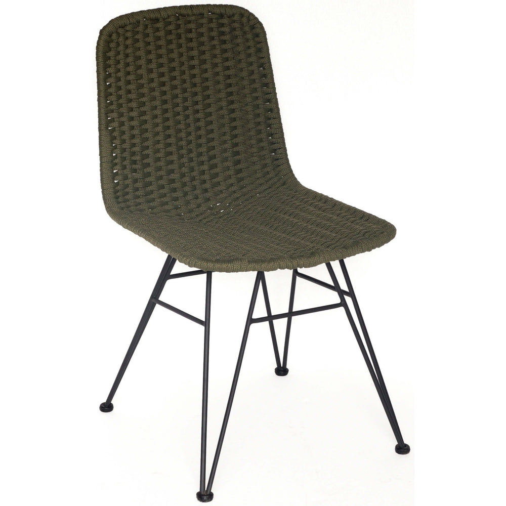Dema Outdoor Dining Chair, Olive