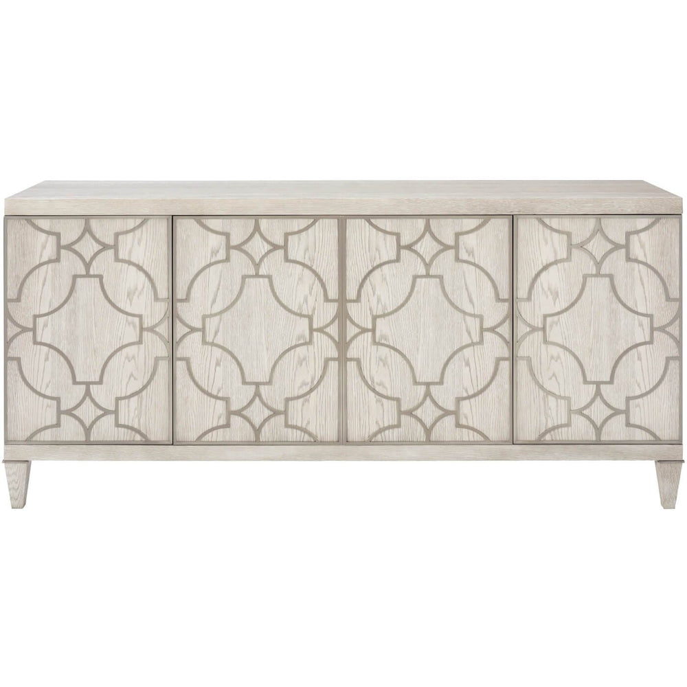 Domaine Blanc Entertainment Console - Furniture - Storage - High Fashion Home