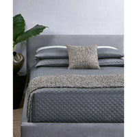 Double Diamond Coverlet Set, Charcoal - Accessories - High Fashion Home