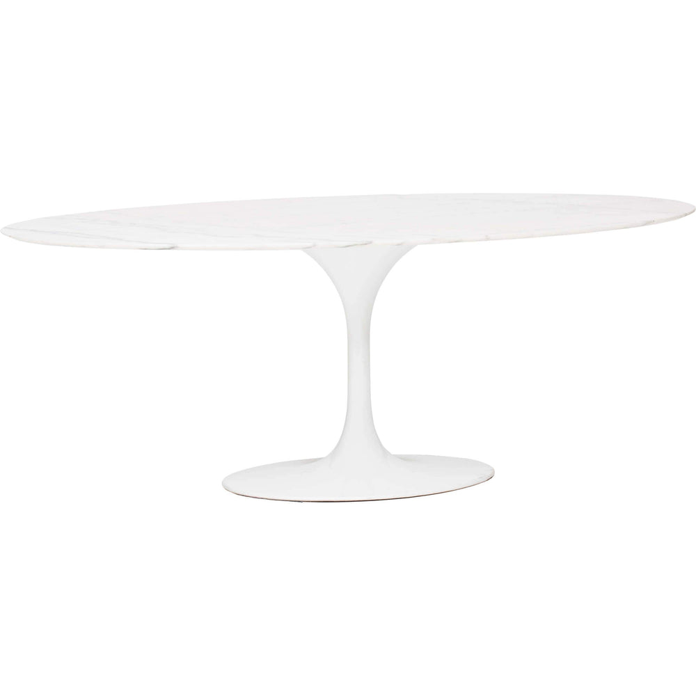 Echo Dining Table, White Marble - Modern Furniture - Dining Table - High Fashion Home