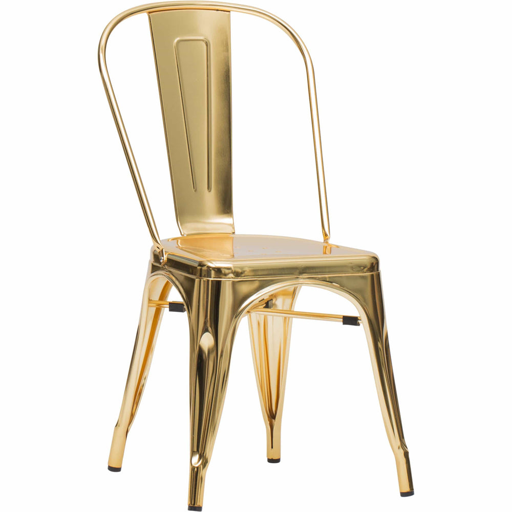 Elio Chair, Gold (Set of 2) - Furniture - Dining - Chairs & Benches