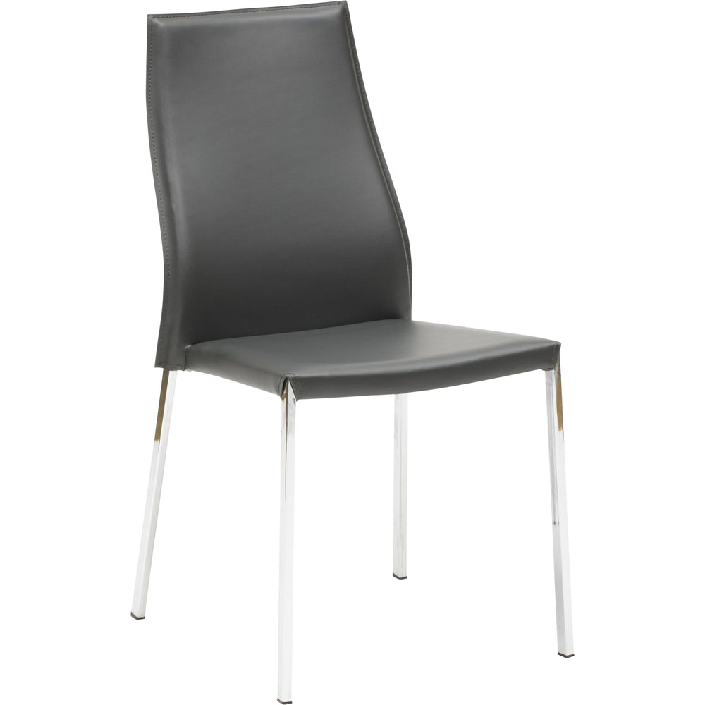 Eric Dining Chair, Dark Grey - Furniture - Dining - High Fashion Home