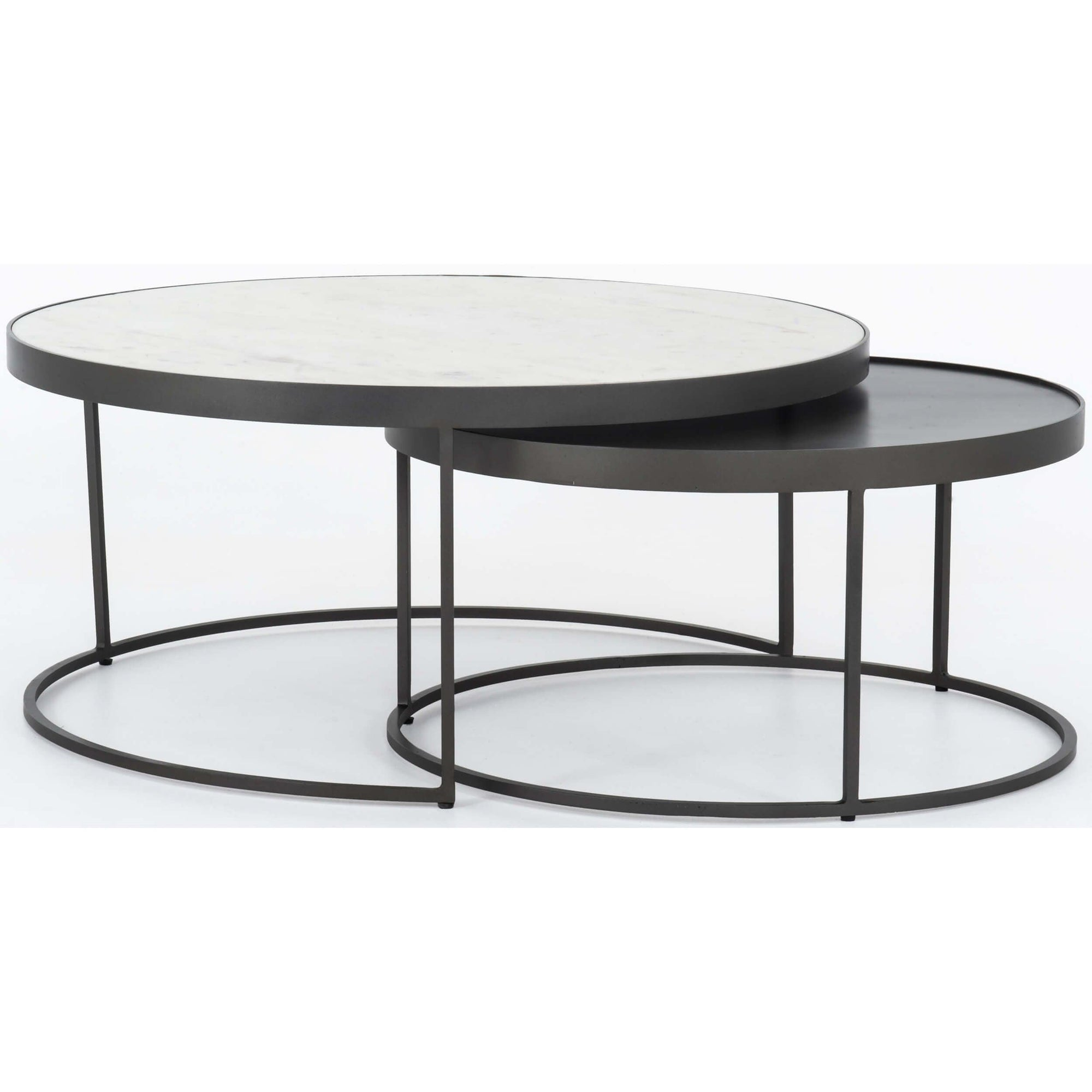 Picture of: Evelyn Round Nesting Coffee Table High Fashion Home