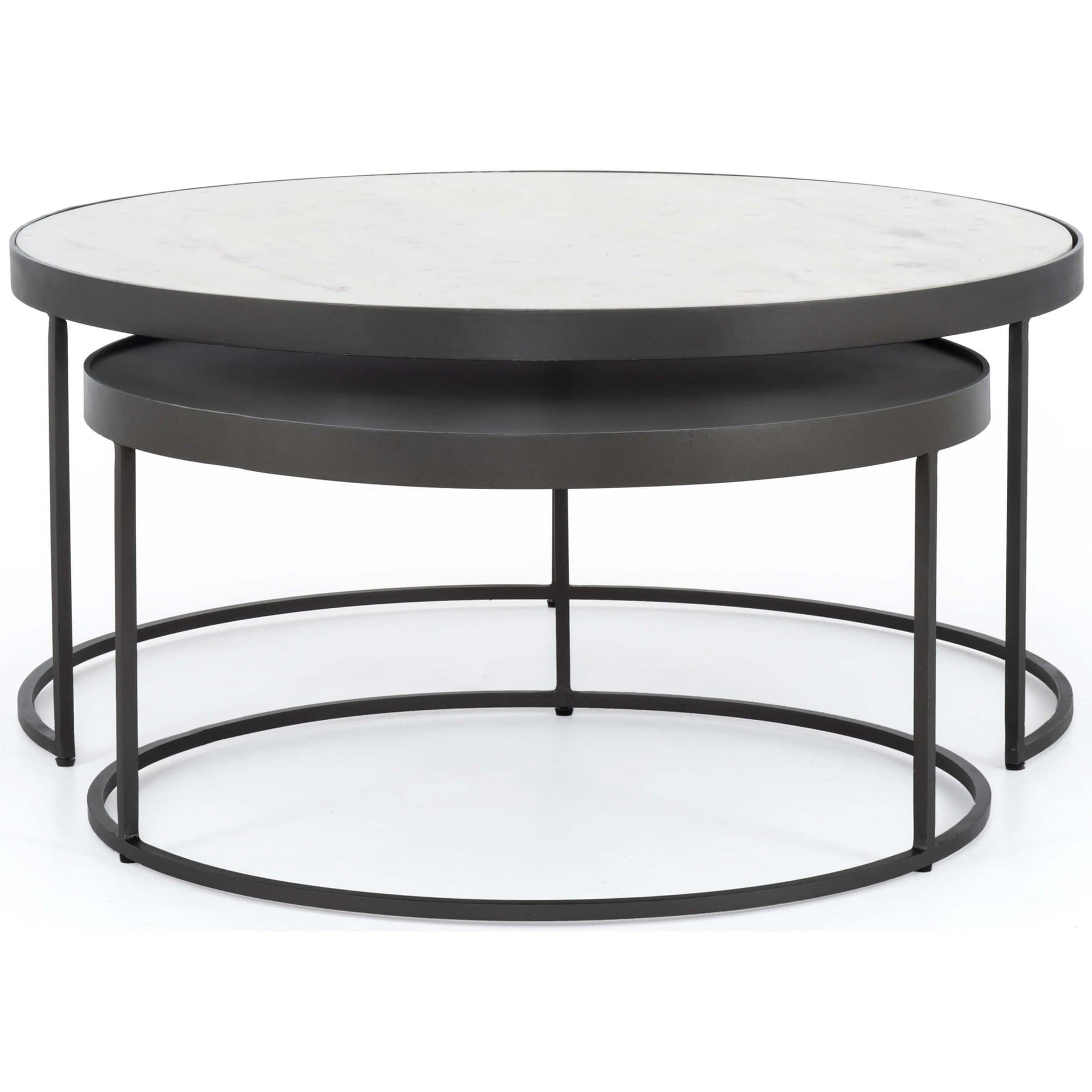 Evelyn Round Nesting Coffee Table High Fashion Home