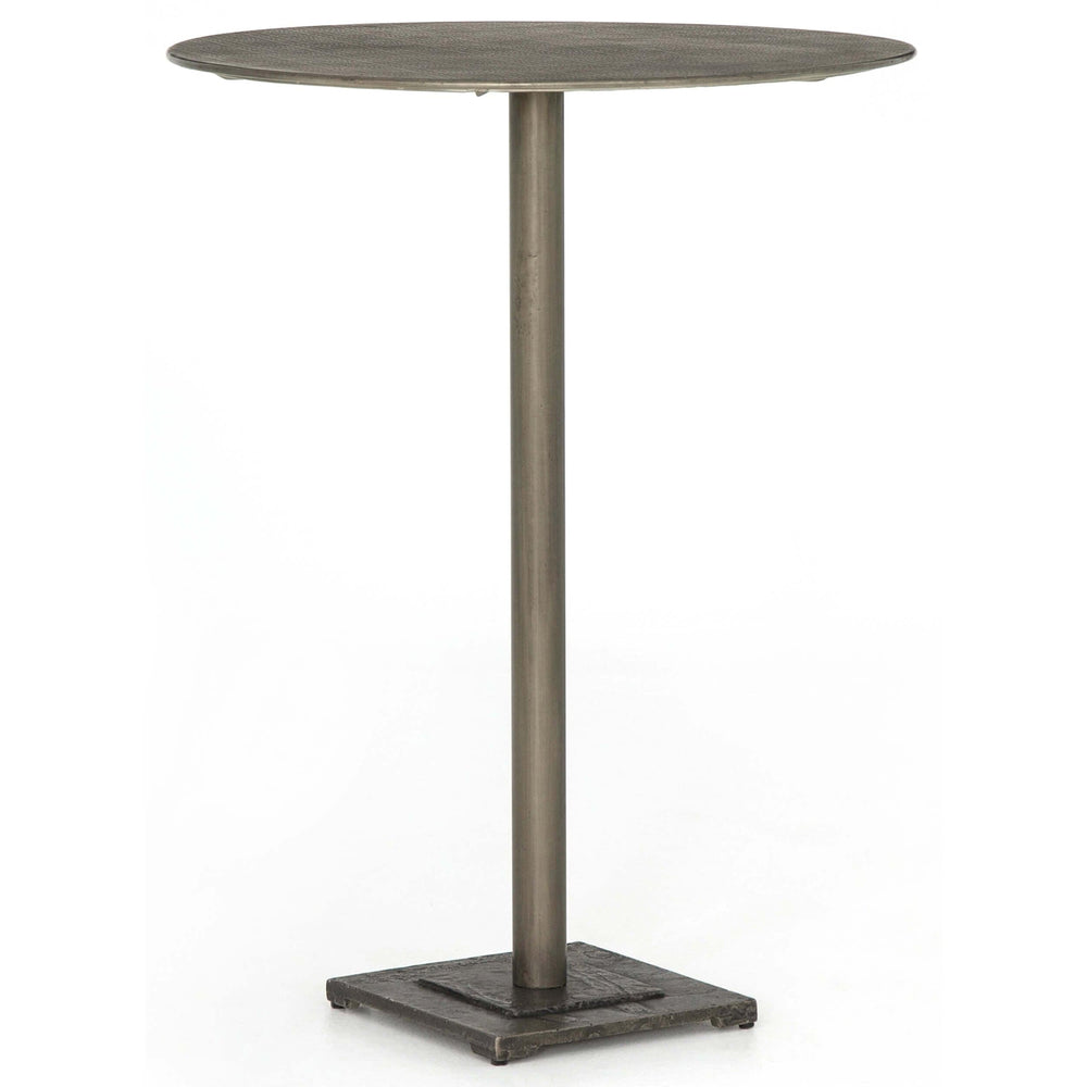 Fannin Bar Table, Antique Nickel