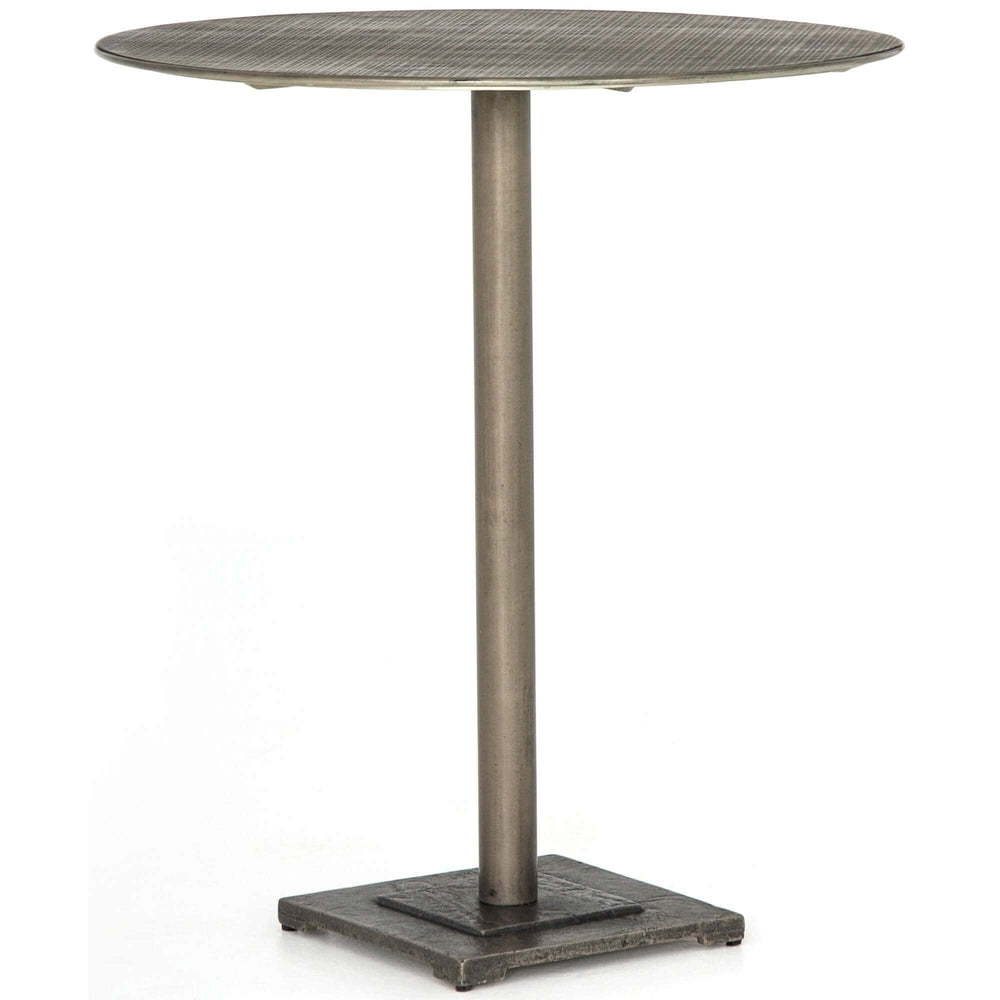 Fannin Counter Table, Antique Nickel - Modern Furniture - Dining Table - High Fashion Home