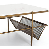 Felicity Coffee Table, Matte Brass - Furniture - Accent Tables - Coffee Tables