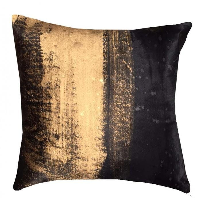 Cloud 9 Gold Dusted Black Pillow - Accessories - High Fashion Home