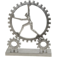 Figurine with Gears, Silver - Accessories - High Fashion Home