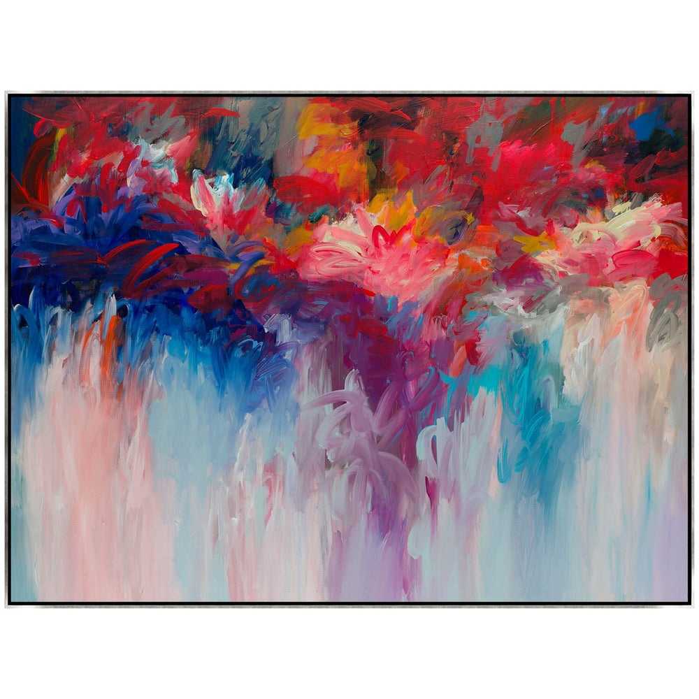 Floral Fire Framed - Accessories - Canvas Art - Abstract