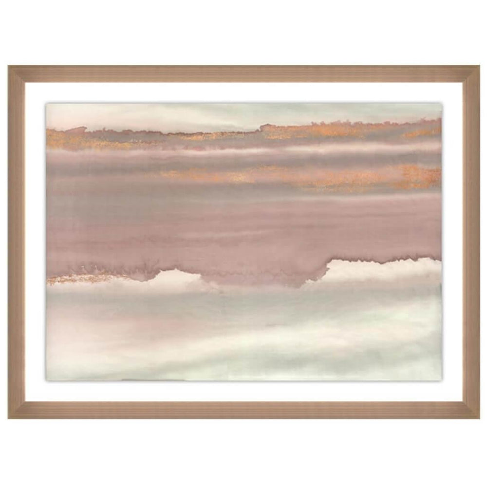 Horizon Rosewater I - Accessories - Canvas Art - Abstract