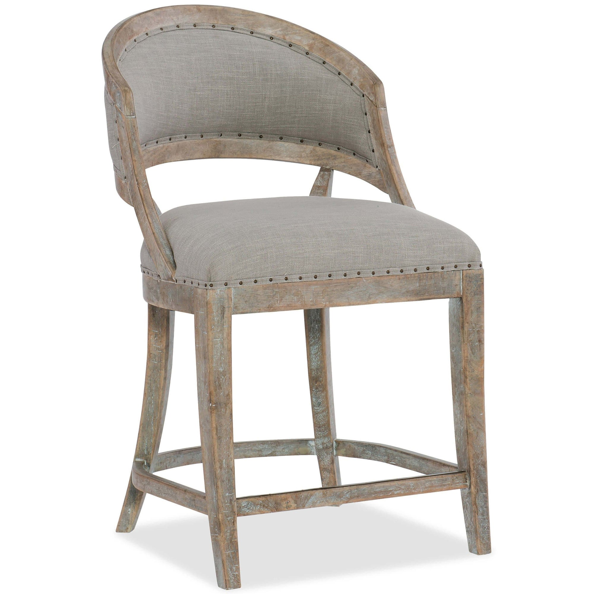 Fabulous Garnier Barrel Back Counter Stool High Fashion Home Gmtry Best Dining Table And Chair Ideas Images Gmtryco