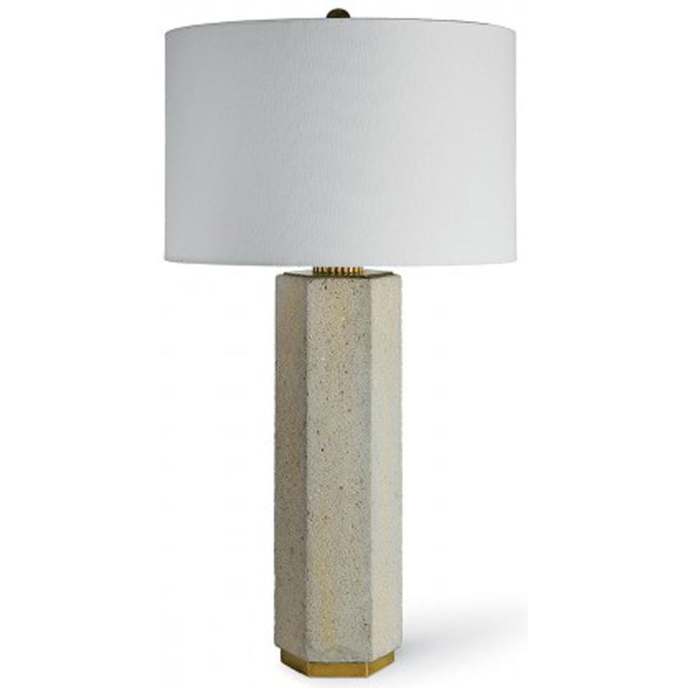 Concrete and Brass Gear Lamp - Lighting - High Fashion Home