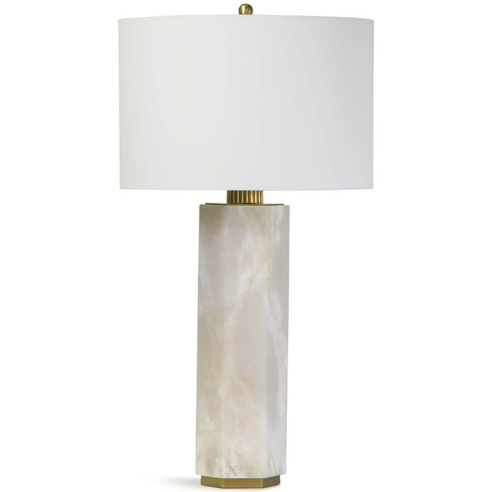Gear Table Lamp, Alabaster - Lighting - High Fashion Home